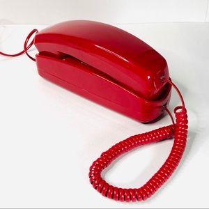 Vintage Push Button Phone Princess Red Retro GE